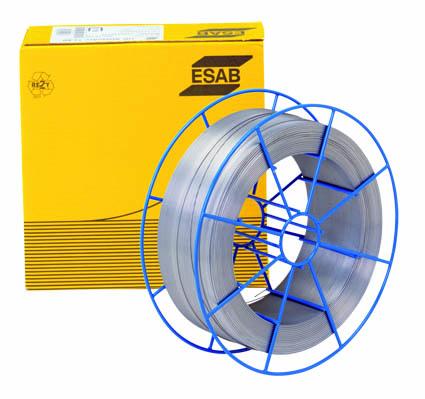 Svařovací technika. Svařovací drát pro MIG-MAG nepoměděný. Značka ESAB. Na cívce.
